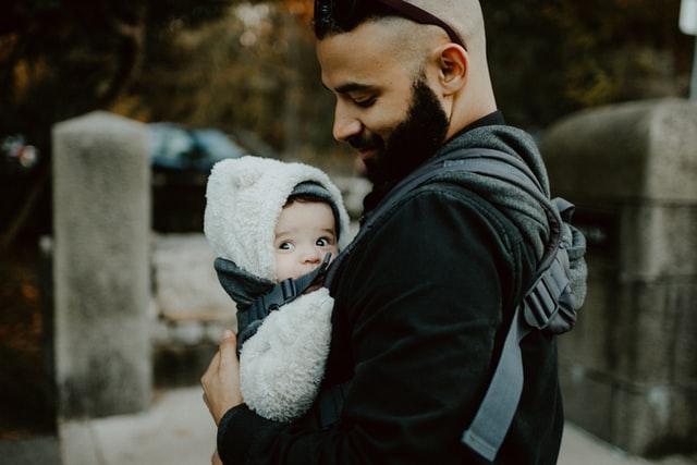 hugging baby carrier